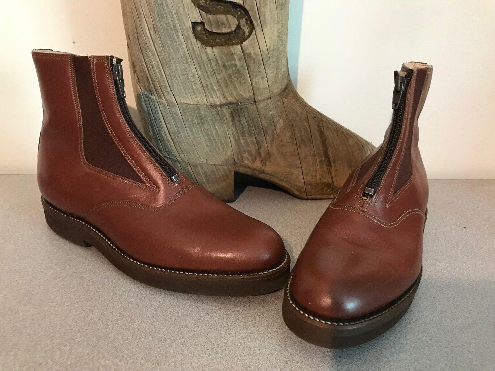 Nuevo a.m. Kroop & Sons Cuero Cuero Cuero Cremallera Jodhpur botas para hombre mujer 5.5 7.5  tienda