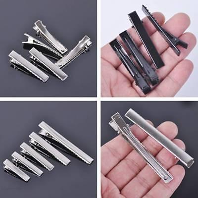 10pcs 41x8mm 56x8mm 75x8mm Black Alligator Clips Metal Hair Accessories NEW