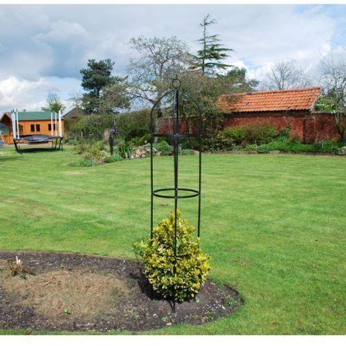 Steel Frame Easy Obelisk Ideal for Climbing Plant Flowers Easy Assembly 193cm