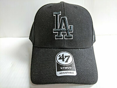 47 Brand Los Angeles Dodgers MVP Black Dad Hat Baseball Caps Caps ...