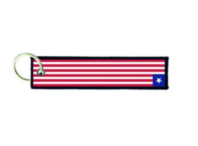 Keychain key ring tags fabric motorcycles car biker cute flag puerto rico