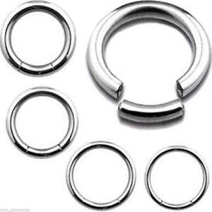 Ring 14 Gauge 7 16 Steel Body Jewelry