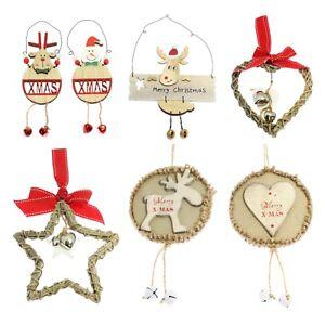 Wooden-Hanging-Christmas-Xmas-Tree-Door-Wall-Decoration-Heart-Star-Reindeer-Gift