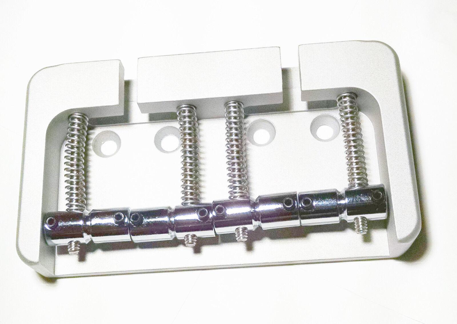 Brand new 4 string Hipshot B style aluminium satin chrome bass bridge 0.750 19mm