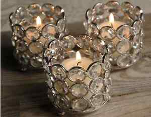 Crystal Votive Tealight Candle Holders wedding Centerpieces Set of 8