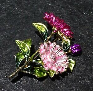 Pink-Flower-Daisy-Enamel-Fashion-Brooch-Pin-Brand-New-FREE-P-amp-P
