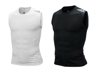 Adidas Men Alpha-Skin Sports Jersey Sleeveless Shirts Black GYM Top Shirt CF7219