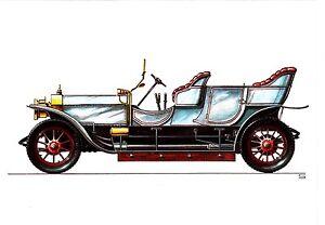 Rolls-Royce Silver Ghost , 1907, Reprint , Ansichtskarte , ungelaufen - Rostock, Deutschland - Rolls-Royce Silver Ghost , 1907, Reprint , Ansichtskarte , ungelaufen - Rostock, Deutschland
