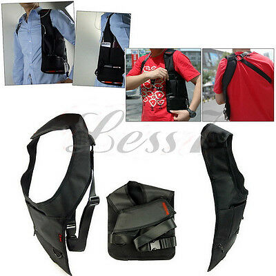 FBI Outdoor Sports Vest Hidden Underarm Pocket Shoulder Bag Wallet Tactical Pack