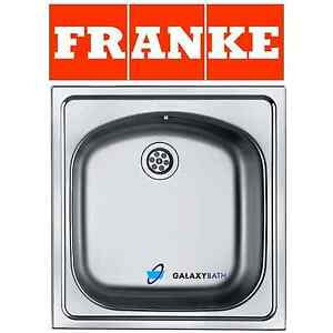 FRANKE EUROSTAR SINGLE 1.0 BOWL INSET WASTE STAINLESS STEEL SQUARE ...