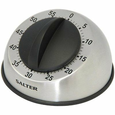 Salter 60 Minute Timer 338 Mechanical Stainless Steel