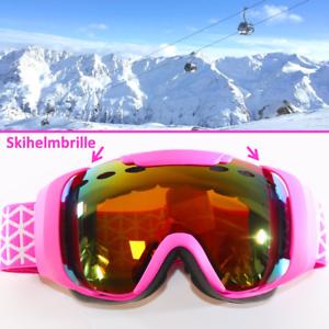 PINK-GIRL-Skibrille-fuer-Skihelm-S3-Anti-Fog-verspiegelt-Maedchen-Brille-yx2-3654