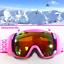 PINK-GIRL-Skibrille-fuer-Skihelm-S3-Anti-Fog-verspiegelt-Maedchen-Brille-yx2-3654 Indexbild 1