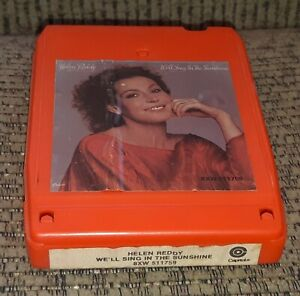 Helen Reddy We'll Sing In The Sunshine 1978 album Capitol Records 8 Track Tape