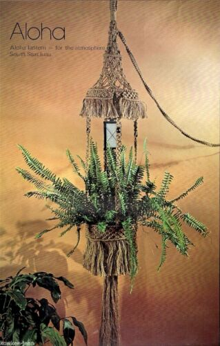 lanterns Vintage book plant hangers wallhanging Wired for Macrame: wine rack