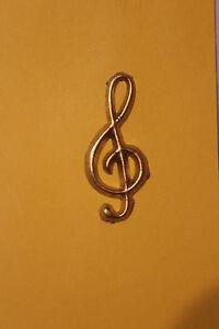 verzierwachs wachsdekor notenschlüssel gold 4,5  2 cm | ebay