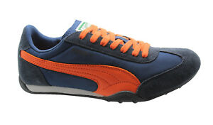 51f74a734a15 Puma 76 Runner Nylon Mens Trainers Lace Up Shoes Suede Leather ...