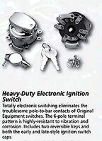 Harley Ignition Switch Dash Mount & 2 Keys Harley '73-'95 Electronic Type