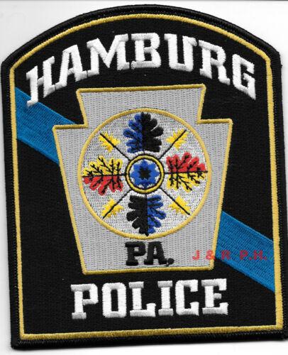 "shoulder police patch 4.5/"" x 5.5/"" size Hamburg Pennsylvania fire"