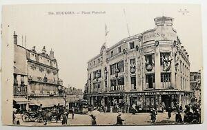 752-Antique-Postcard-Bourges-Place-Planchat-554