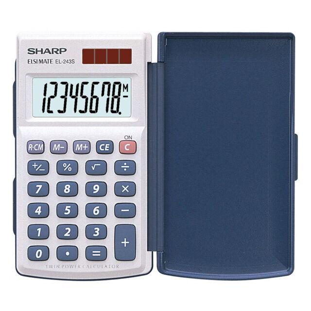 8-stellig SHARP Taschenrechner EL250S beige