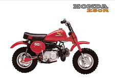 HONDA Poster Classic Z50R Z50 1980's Mini Monkey Bike Suitable to Frame 1981