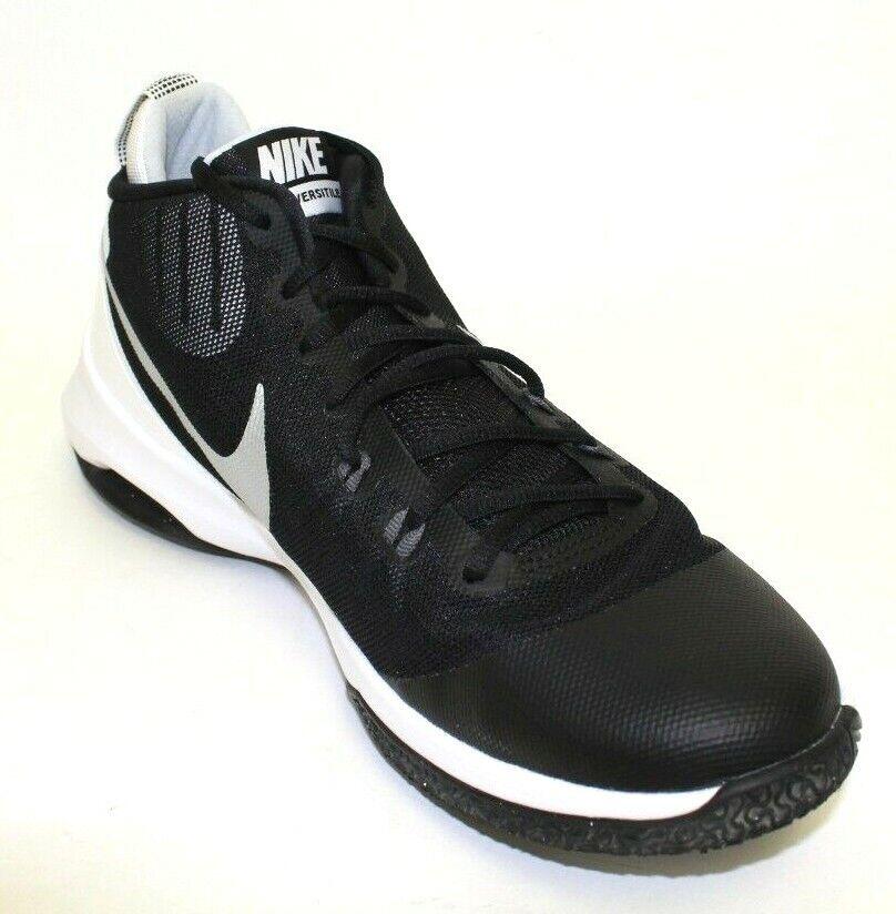Nike Air Versitile Basketball shoes Mens Size 11 Black Metallic White 852431 001