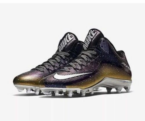 New Nike Alpha Pro 2 3/4 TD PP Football Cleats Men's 11.5 - Black Silver Gold