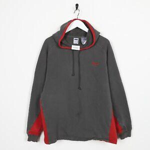 Vintage-FILA-Small-Logo-Hoodie-Sweatshirt-Grey-Medium-M