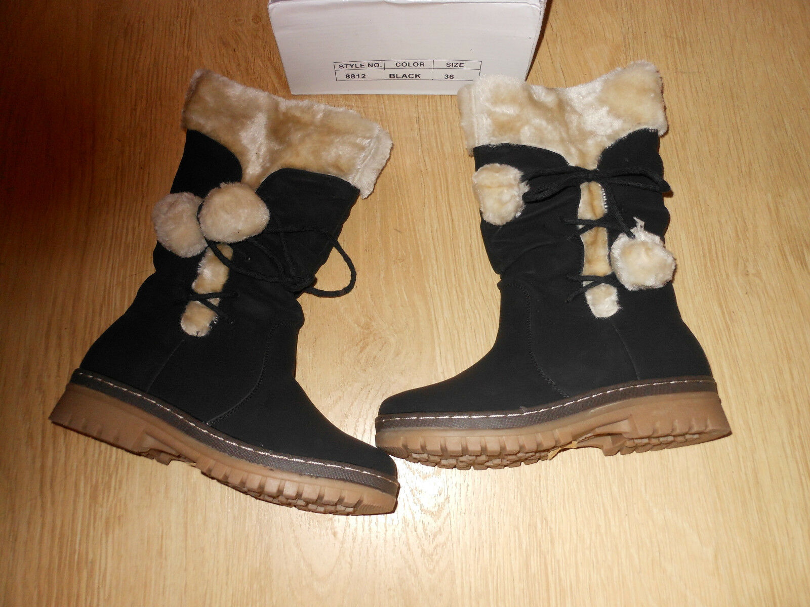 BNIB Winter Fur Lined Boots In Size 3 Eu 36