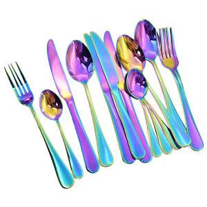 Image is loading 16-Pcs-Iridescent-Unicorn-Cutlery-Set-Spoon-Forks-  sc 1 st  eBay & 16 Pcs Iridescent Unicorn Cutlery Set Spoon Forks Dining Xmas Party ...