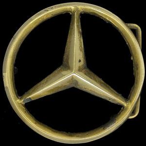 Brass Mercedes Benz 1936 540k Badge Emblem Logo Car 1970s Vintage Belt Buckle