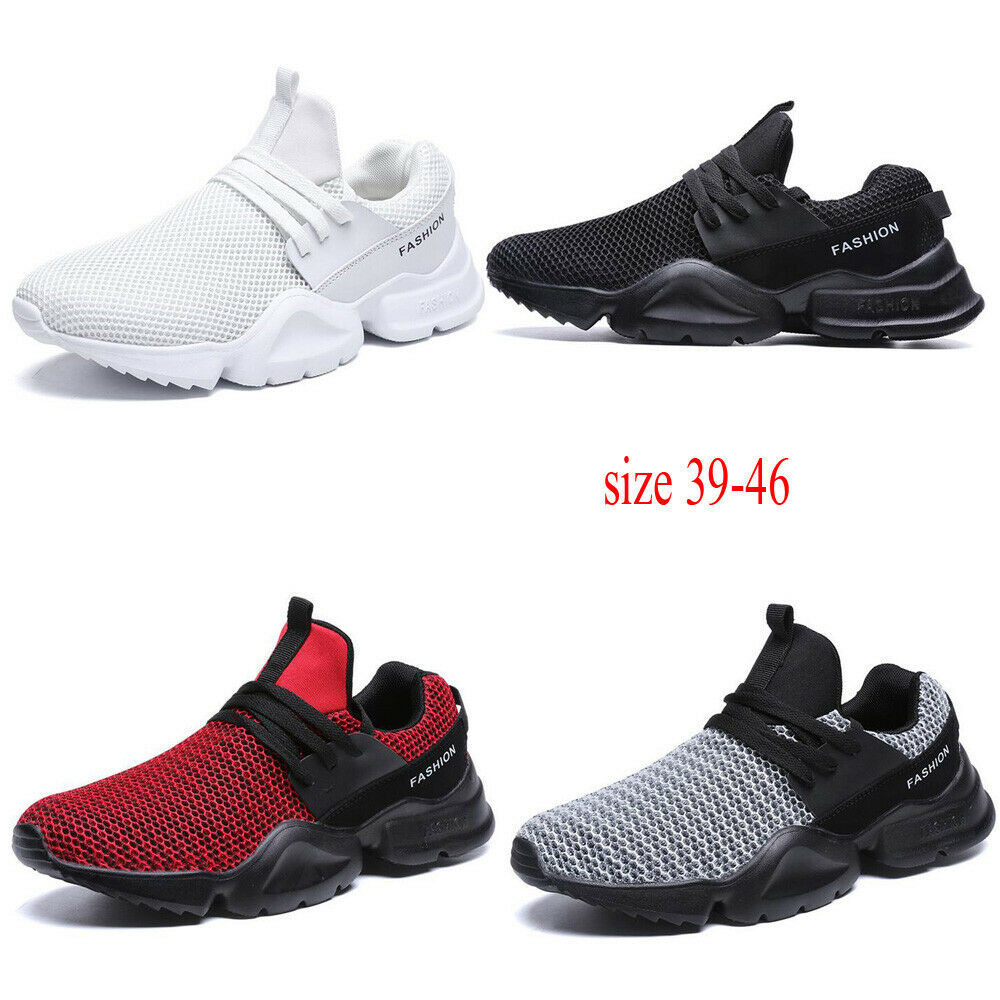 Fashion Men Athletic Mesh Cloth Running Lace-Up Sports shoes Large Size 39-46