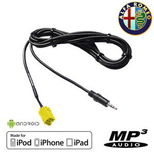 Cable-AUX-AUXILIAIRE-MP3-Jack-3-5-Alfa-Romeo-159-147-156-AUX-IN-iPhone-Android