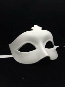 Blank Masquerade Mask - Venetian Cosplay Costume Party DIY ...
