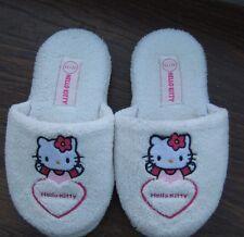 Girls White Hello Kitty Mule Slippers Size UK 12/13 EU 31/32