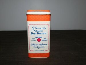 VINTAGE-MEDICINE-5-1-4-034-1986-100TH-ANNIV-JOHNSON-039-S-BABY-POWDER-TIN-CAN-EMPTY