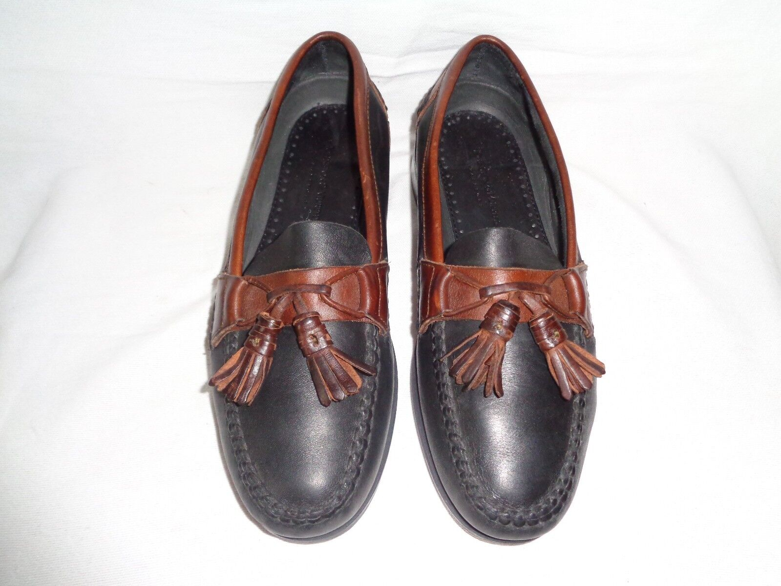 Johnston & Murphy Passport Black Brown Tassel Loafer Men's Size US 8.5 M
