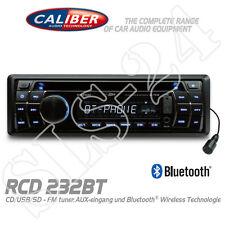 Caliber RCD232BT Bluetooth Autoradio DIN Radio CD USB SD AUX-IN AM/FM MP3 Tuner