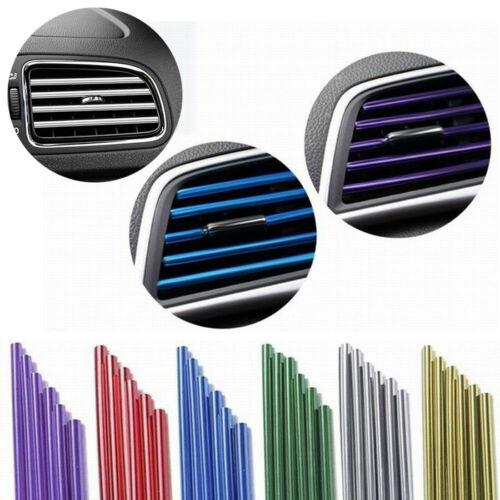 10X Car Air Conditioner Outlet Grille U Shape Molding Trim Decoration Strip AUTO