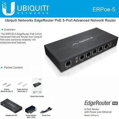 Ubiquiti ERPoe-5 EdgeRouter PoE 48V 5 Gigabit ports 5x10/100/1000 EdgeOS  Router  701748268737   eBay
