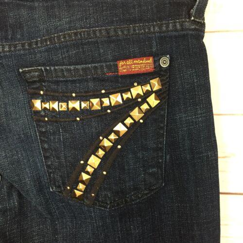 dell'umanità con Dojo tasche 28 X taglia delle lavate 7 scuro Per tutti 30 donne rari i jeans borchie xO07w