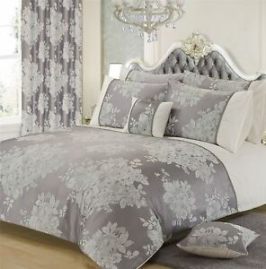 FLORAL-JACQUARD-SILVER-GREY-WHITE-DOUBLE-DUVET-COVER
