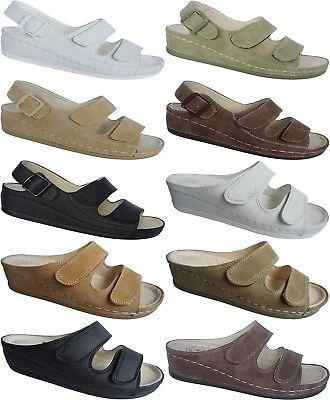 Damen Pantoletten Clogs Komfort-Soft-Fußbett Latschen Schuhe Sandalette Gr 36-42