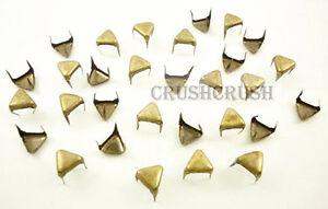 100pcs-5mm-Antique-Brass-Flat-TriAngle-Studs-Spots-Punk-Rock-DIY-NAILHEADS-S008