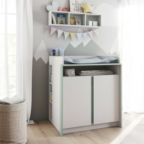 Table Commode à langer Enfants Bébé Nandini en Blanc