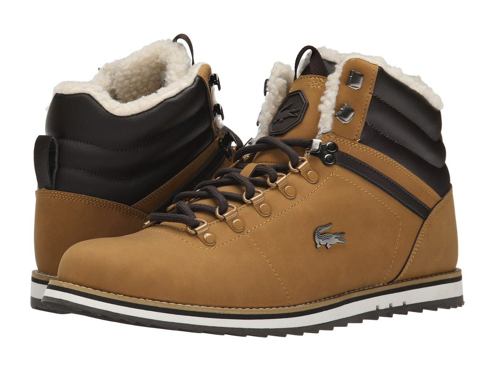 NWT LACOSTE JARMUND PUT2 SNEAKERS MENS SHOES LEATHER DARK TAN BOOTS SIZE 7, 8
