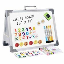Magnetic Small Dry Erase Whiteboard Foldable Desktop Portable For Home Office