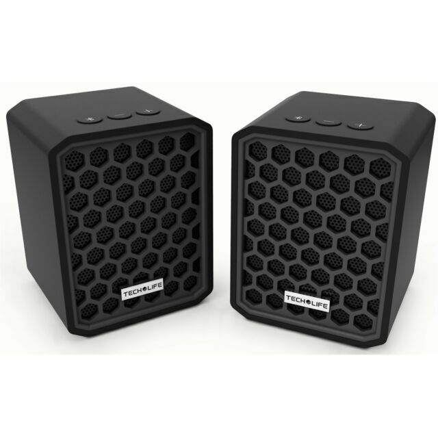 Tech Life BBT1 Beatblock Twins Stereo Pairing Bluetooth Wireless Speakers