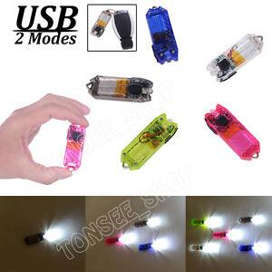 45LM-2Mode-Portable-Mini-Flashlight-Rechargeable-USB-Torch-LED-Light-Key-Chain-M